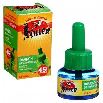 Жидкость для фумигатора киллер, от комаров, 45 ночей