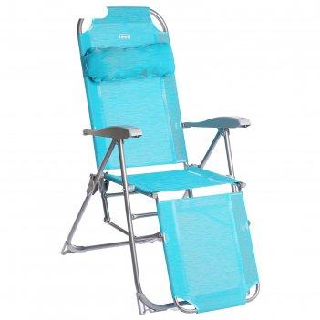 Кресло-шезлонг к3, 82 x 59 x 116 см, цвет бирюзовый