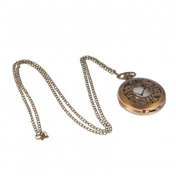 Часы карманные кварц на цепочке, карты игральные 5,8*4,7см