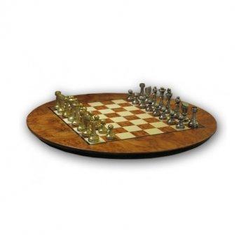 Шахматы 39х39 piccolo ottone (6см) от italfama (корень вяза, бронза, олово