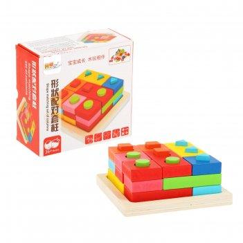 Пирамидка логическая цвета и формы