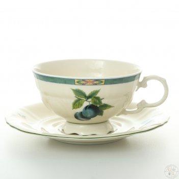 Набор чайных пар 200 мл соната фруктовый сад слоновая кость (6 пар)