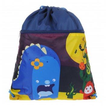 Мешок для обуви, синий, 400x490