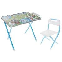 Набор детской мебели дэми №1. далматинцы складной: стол, стул и пенал, цве