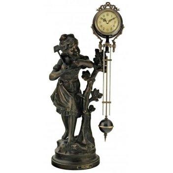 Скульптурные часы восток французская бронза br-3166