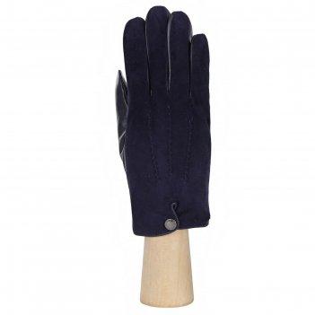 Перчатки мужские, натуральная кожа (размер 10) синий