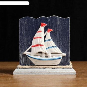 Карандашница морской стиль прямоугольная 10*8,5см