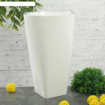 Кашпо d=15 см грейс, цвет белый