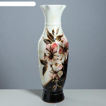 Ваза напольная илона, цветы, 63 см