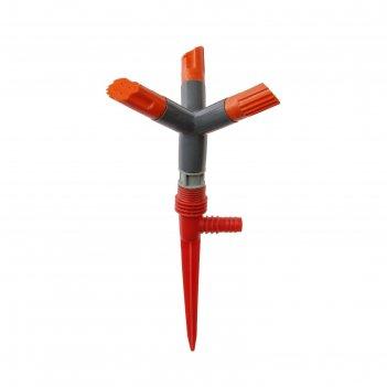 Распылитель 3-лепестковый, 30 см, штуцер под шланги 1/2, 5/8, 3/4, пика, п
