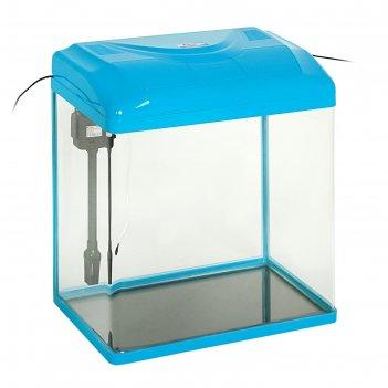 Аквариум seastar hx-500zf 65 л, голубой (в комплекте led-лампа, топ-фильтр