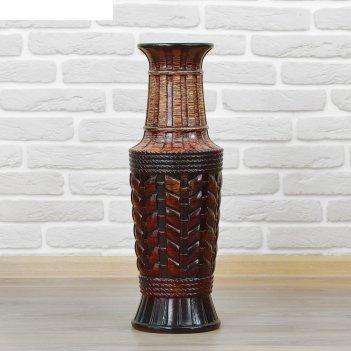 Ваза керамика напольная плетенка 60 см бочка