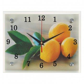 Часы настенные, серия: кухня, лимонный аромат, 20х25  см, микс