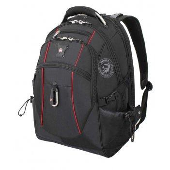 Рюкзак wenger, чёрный/красный, полиэстер 900d/м2 добби, 34x23x48 см, 38 л