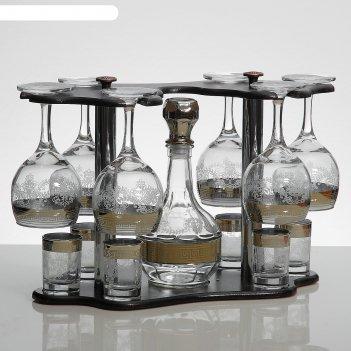 Мини-бар 13 предметов фужеры  + графин 500 мл + стопка 50 мл