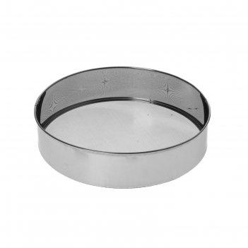Сито d=27 см металлик