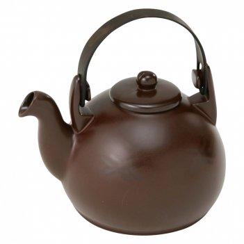 Чайник, объем: 1,7 л, материал: керамика, размер: 22 x 17 x 16, цвет: шоко