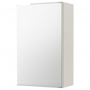 Зеркальный шкаф лиллонген, 1 дверца, 40x21x64 см, белый