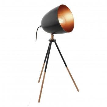 Настольная лампа chester 1x60вт e27 коричневый 29x29x44см