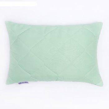 Подушка бамбук+латекс высокая 50х68 см зел., бамбуковое волокно/натур.лате