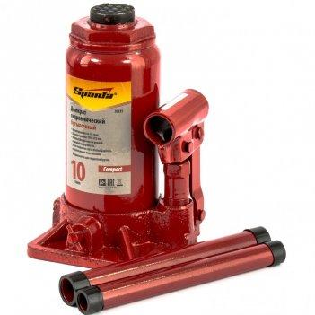 Домкрат гидравлический бутылочный 10 т, h подъема 190-370 мм sparta compac