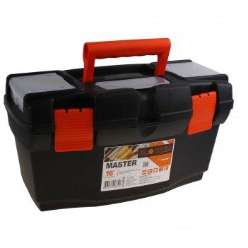 Ящик для инструментов master 16, черно-оранжевый