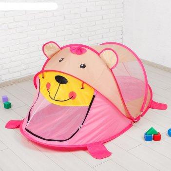Палатка детская «мишутка», розовый