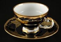Набор для чая кленовый лист синий 819 на 6перс.12пред.