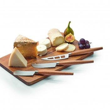 Набор ножей для сыра, 3 шт, дерево