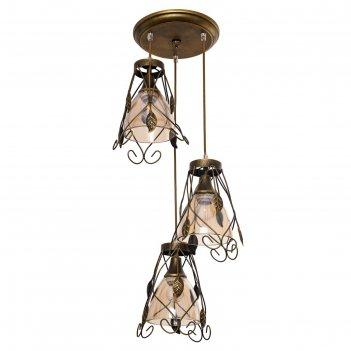 Люстра подвес эдель 3 лампы