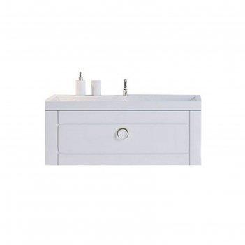 Комплект мебели aqwella infinity 100 подвесной с ящиком, тумба с раковиной