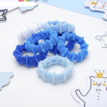 Резинка для волос махрушка (набор 100 шт) 3 см синие оттенки