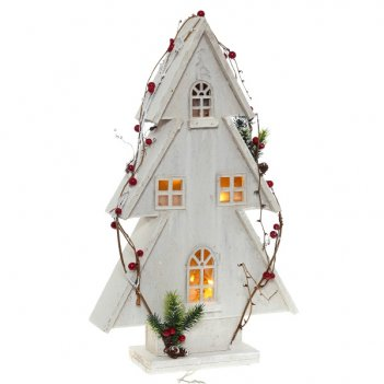 Светильник домик, 32х9х54 см (10 светодиодов)