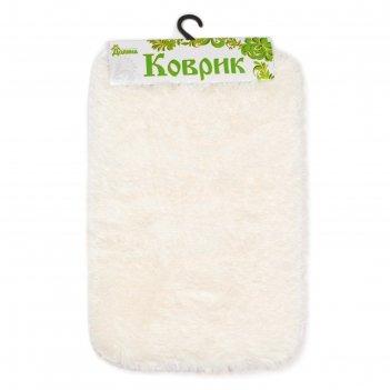 Коврик для ванной пушистик, цвет белый