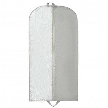 Чехол для одежды спанбонд 60x120 см, цвет серый