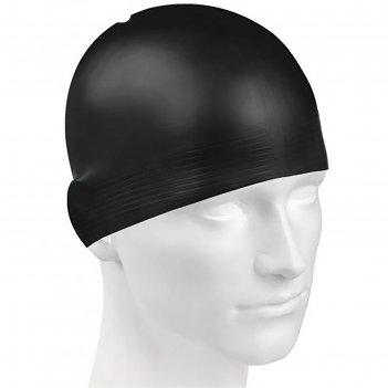 Шапочка для плавания solid, m0565 01 0 01w, чёрный