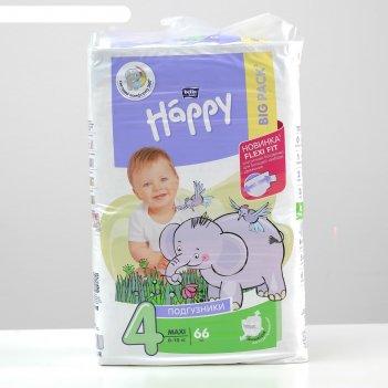 Детские подгузники  bella baby happy max (8-18 кг) 66 шт