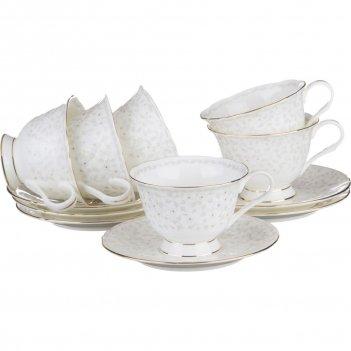 Чайный набор вивьен на 6 персон 12пр. 200 мл.(ко...