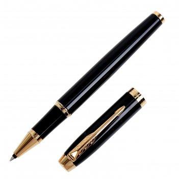 Ручка роллер parker im core black gt f, корпус чёрный глянцевый/ золотой,