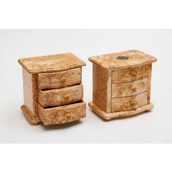 Шкатулка мини комод карельская береза 155х110х150