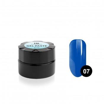 Гель-паста для дизайна ногтей tnl, №07 лазурно-синяя, 6 мл