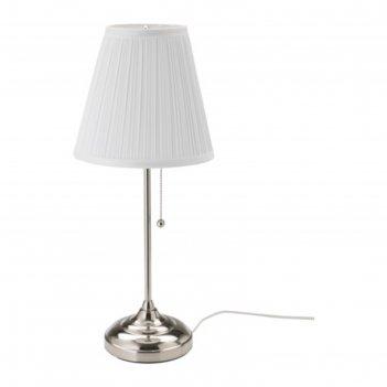 Настольная лампа arstid 1x75вт е27 никель 22x22x55см