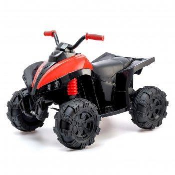 Электромобиль квадроцикл, 2 мотора, цвет красный