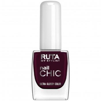 Лак для ногтей ruta nail chic, тон 46, тёмный изюм
