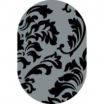 Ковёр карвинг фризе vision deluxe v812, 3*5 м, овал, gray
