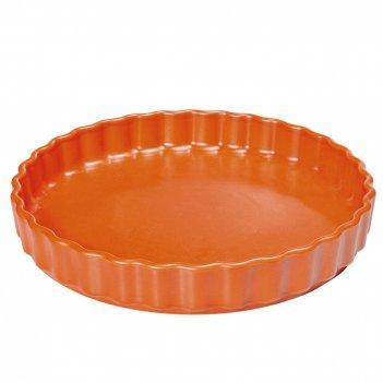 Блюдо круглое с волнистым краем d 28 см, цвет красный, серия