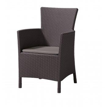 Кресло обеденное keter iova коричневый, садовая мебель