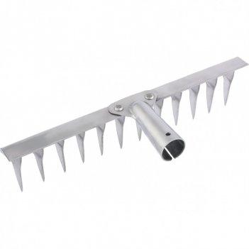 Грабли, нержавеющая сталь, 290 мм, 12 витых зубьев, без черенка, россия си