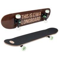 Скейтборд hudora harlem abec 7, цвет коричневый