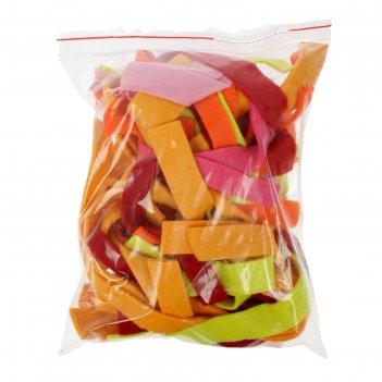 Набор фетра ассорти мягкий, полоски, красный, оранжевый, жёлтый